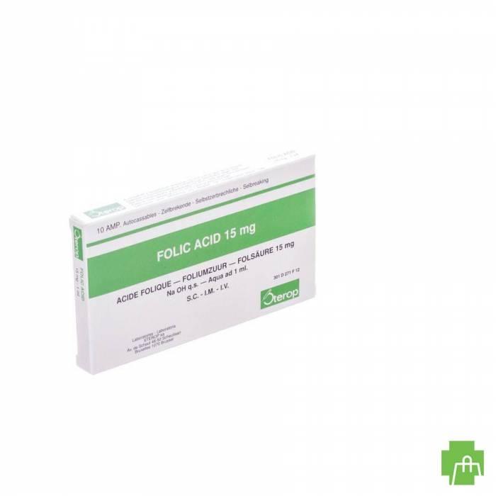 Acide Folique Iv Amp 10 X 15mg/1ml