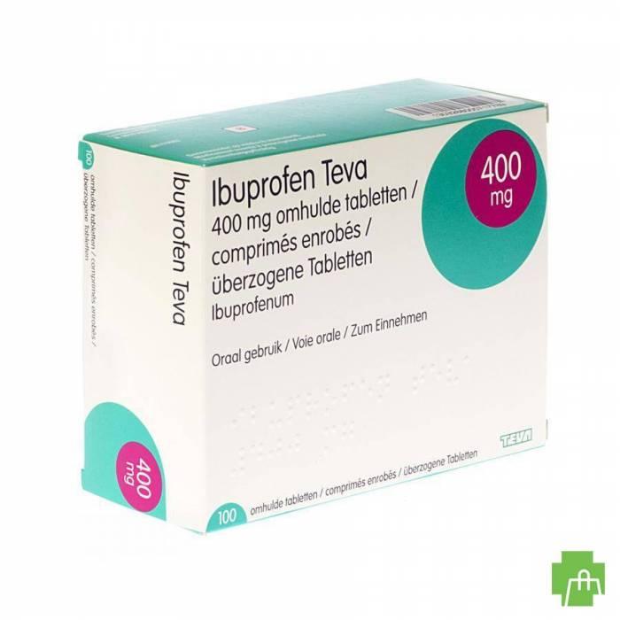 Ibuprofen Teva Drag 100 X 400mg