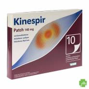 Kinespir Patch 140mg Emplatres 10