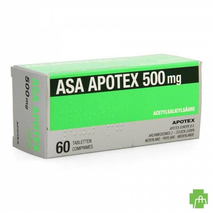 Asa Apotex 500mg Comp 60 X 500mg