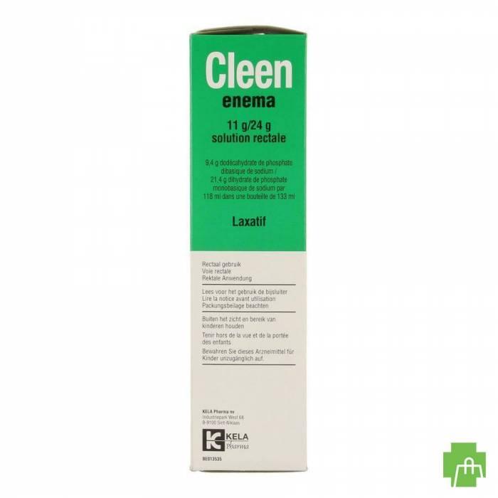 Cleen Enema 11g/24g Opl Rectaal Gebruik Fl 133ml